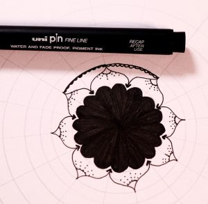 Draw easy mandala