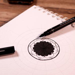 Draw easy mandala
