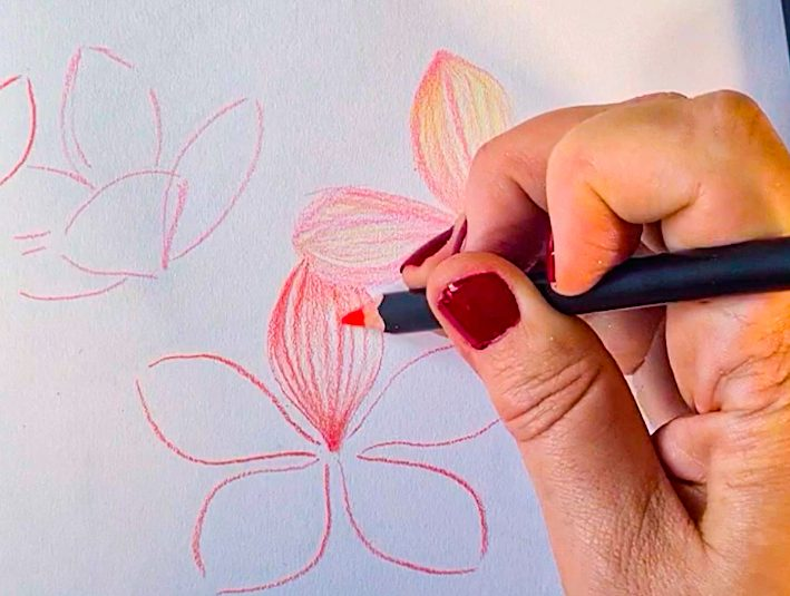 Make colourful drawings with POSCA PENCIL
