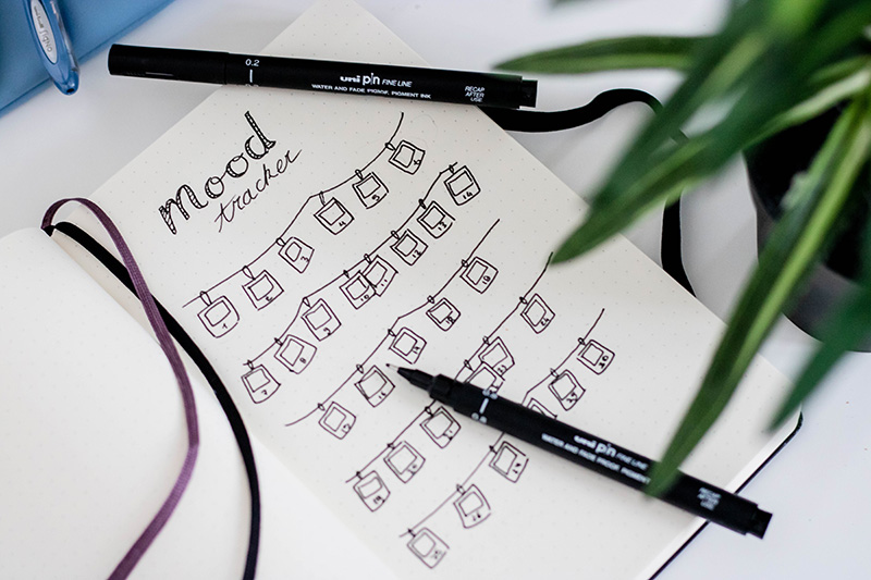 Make a monthly mood-tracker journal
