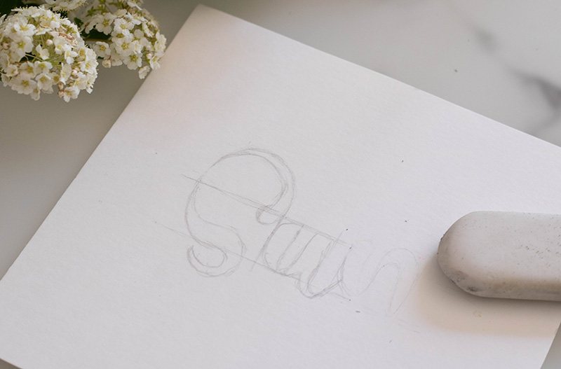 create shimmery lettering with SIGNO gel pens
