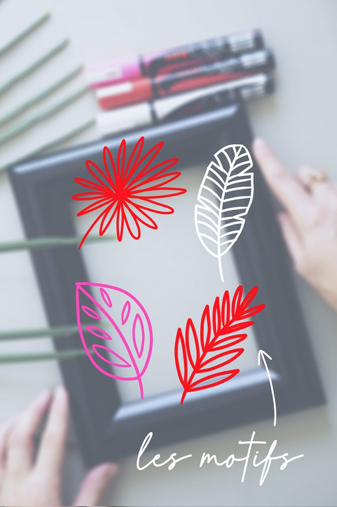 decorate a frame with uni-Chalk markers
