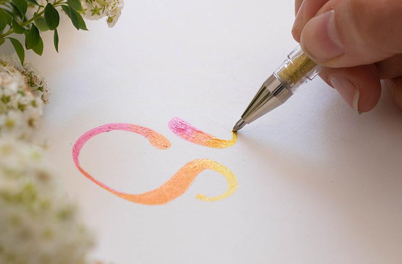 Blend your signo sparkle pens