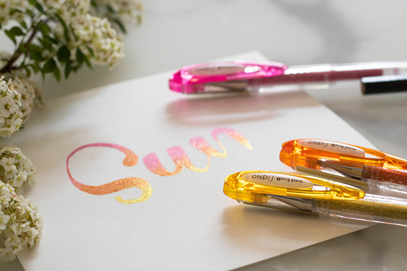 Glittery text with SIGNO