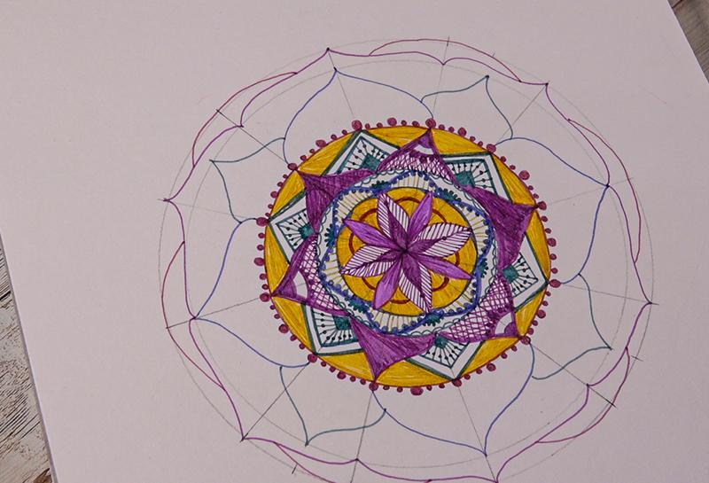 colourful mandala piece