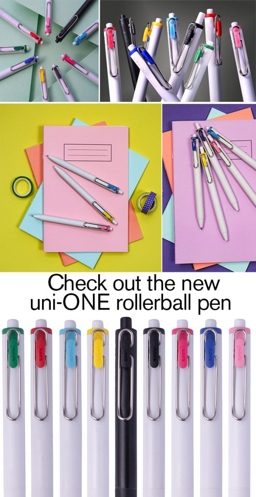 new uni-ONE rollerball pen