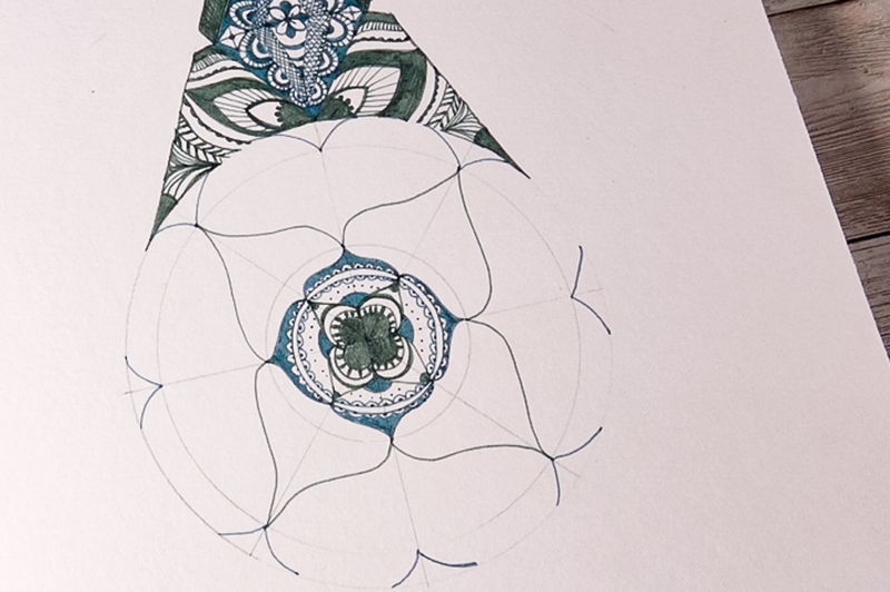 Make ornate drawings with fineliners