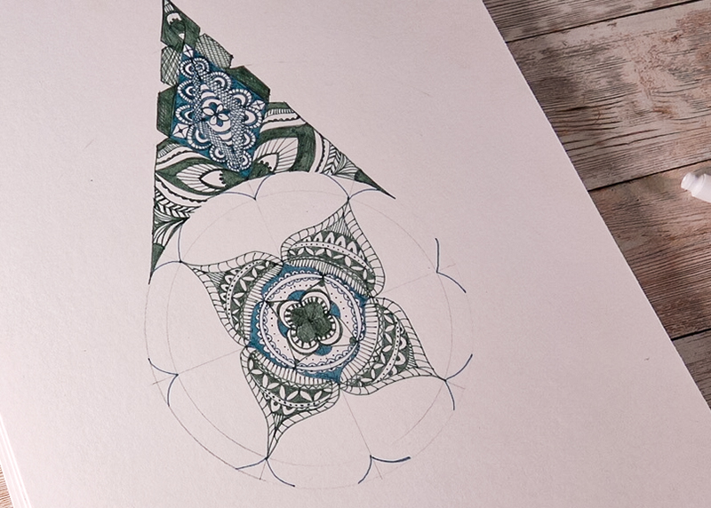 create designs with colour fineliners