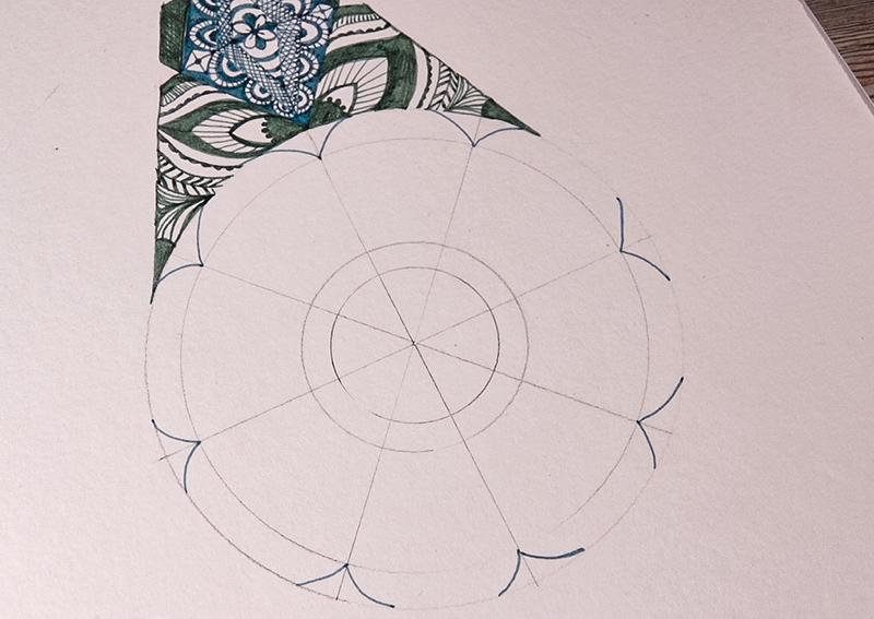 Design an intricate feather with EMOTT fine line pens