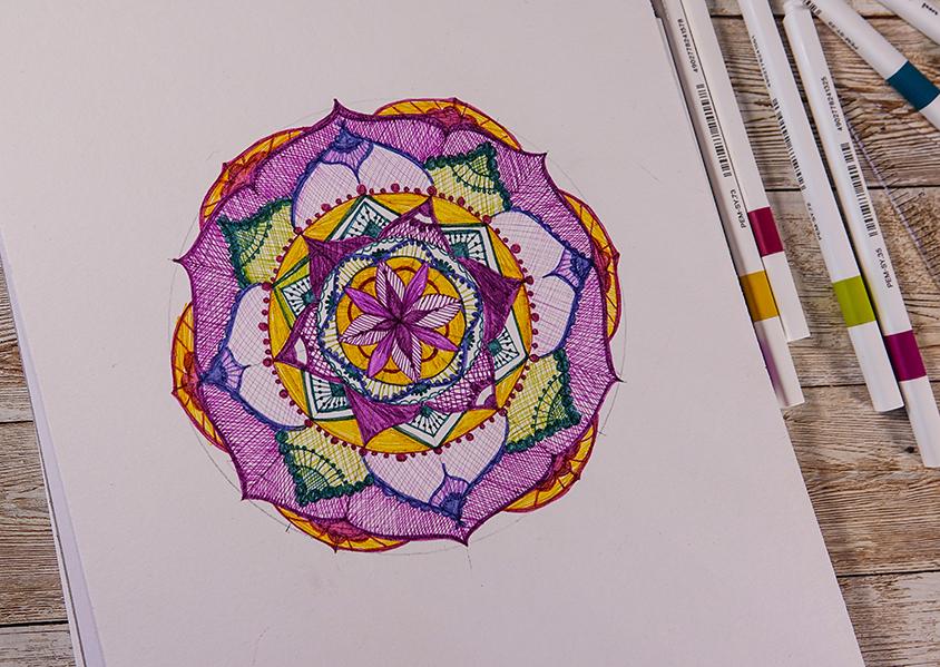 vibrant mandala design