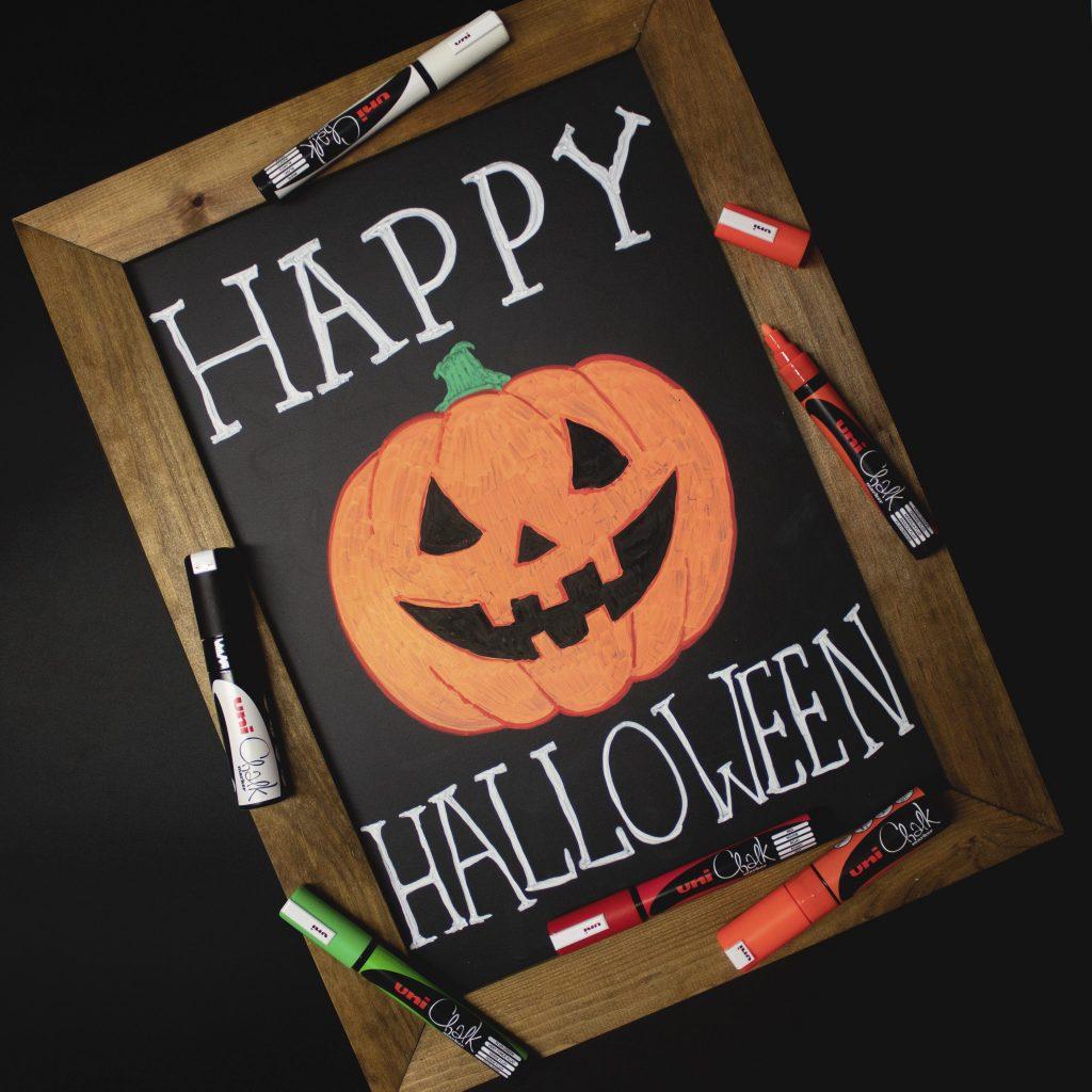 Halloween chalk board
