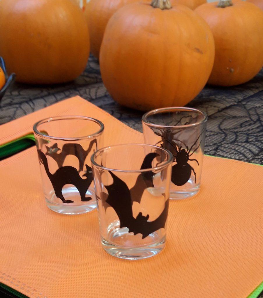 black spooky votives