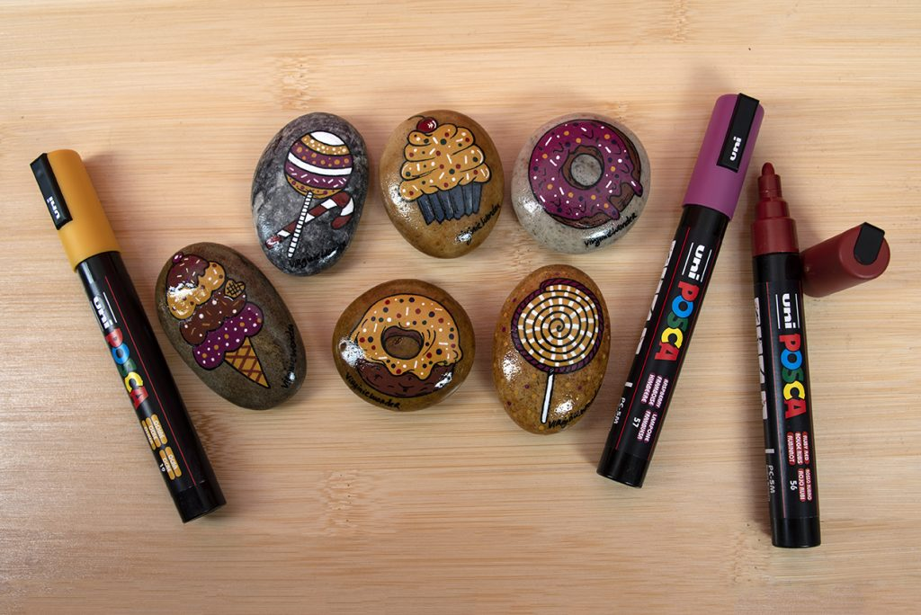 rock painting ideas with POSCA