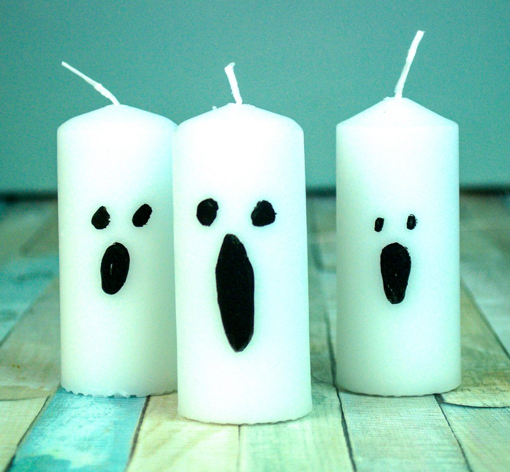 Chalk marker ghost candles